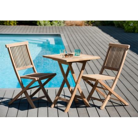 table teck carre best table pliante carre en teck. Black Bedroom Furniture Sets. Home Design Ideas