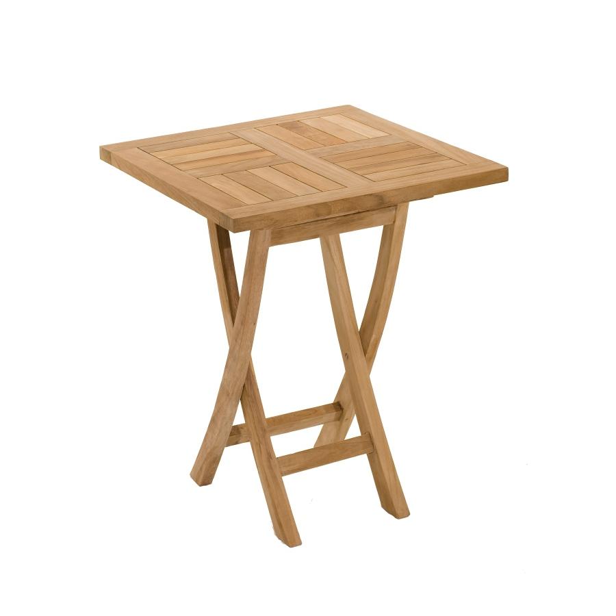 Table carrée pliante 60 x 60 cm teck - Meubles Macabane ...