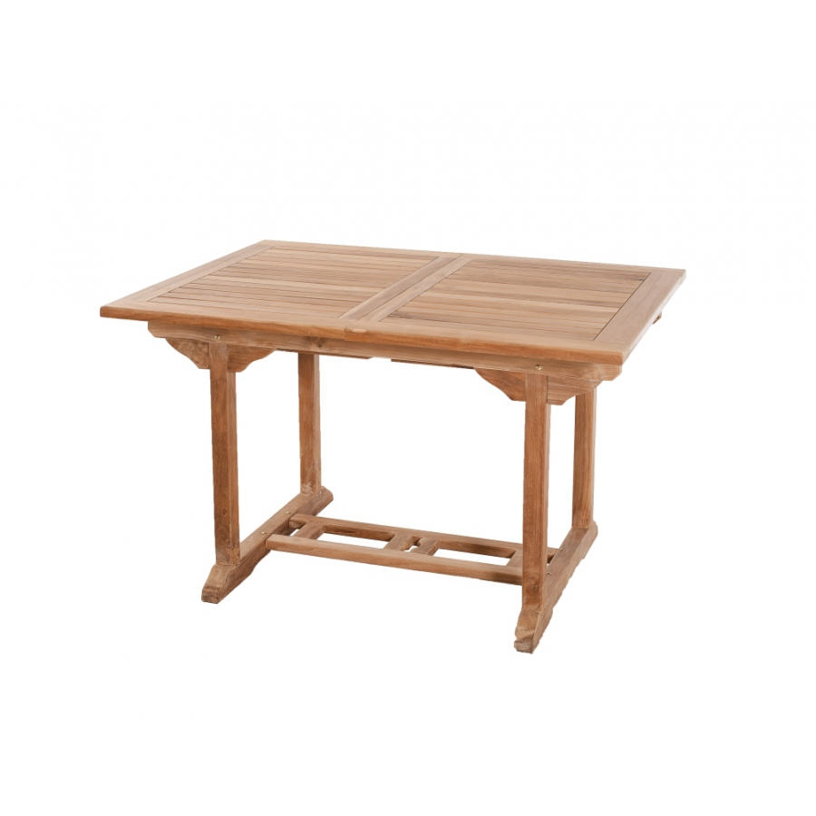 Table rectangulaire extensible 120 180 x 90 cm en teck for Table extensible 300 cm