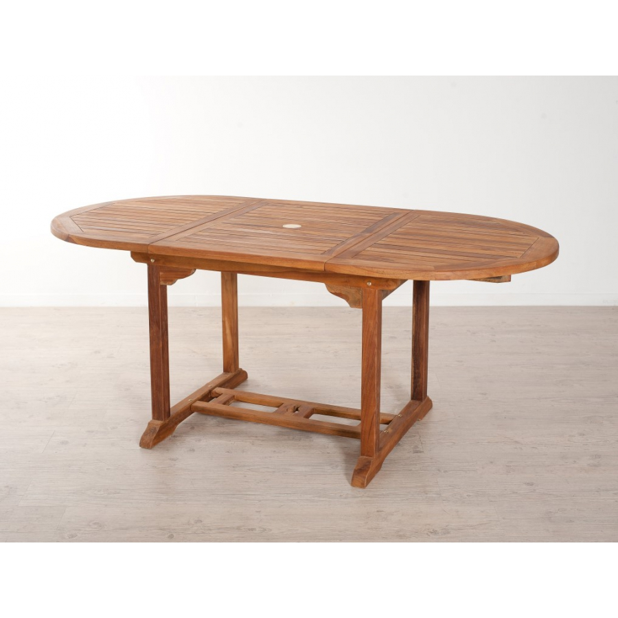 Table ovale extensible simple awesome table de jardin for Table ovale extensible bois