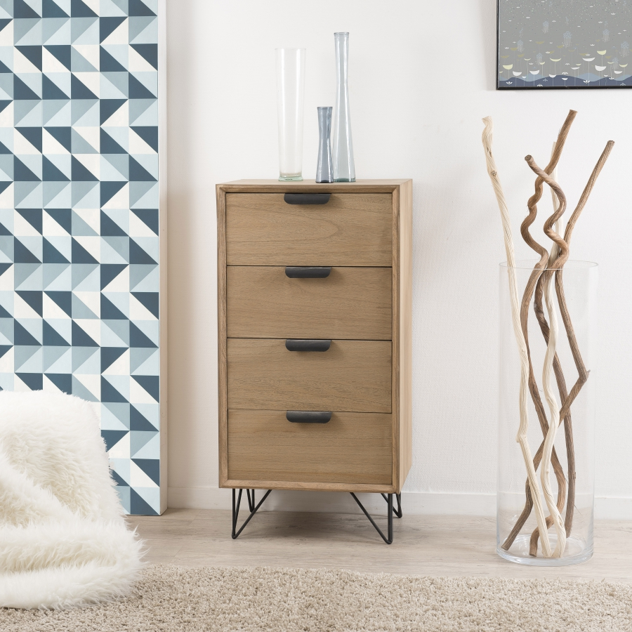 chiffonnier 4 tiroirs meubles macabane meubles et. Black Bedroom Furniture Sets. Home Design Ideas