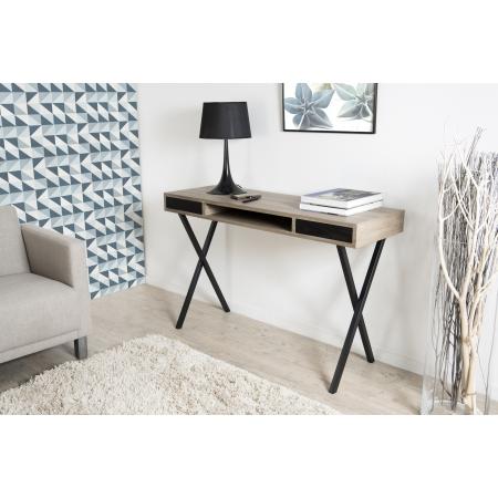 Bureau pieds crois s meubles macabane meubles et - Pied en bois pour bureau ...