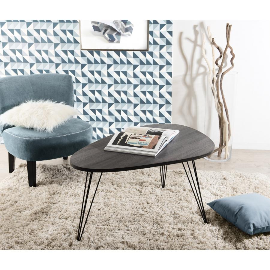 table basse ovoide pieds m tal scandi meubles macabane. Black Bedroom Furniture Sets. Home Design Ideas