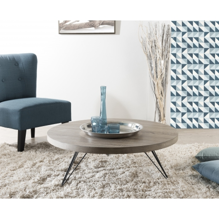 Table basse ronde 90 x 90 cm pieds scandi meubles - Pied de table 90 cm ...