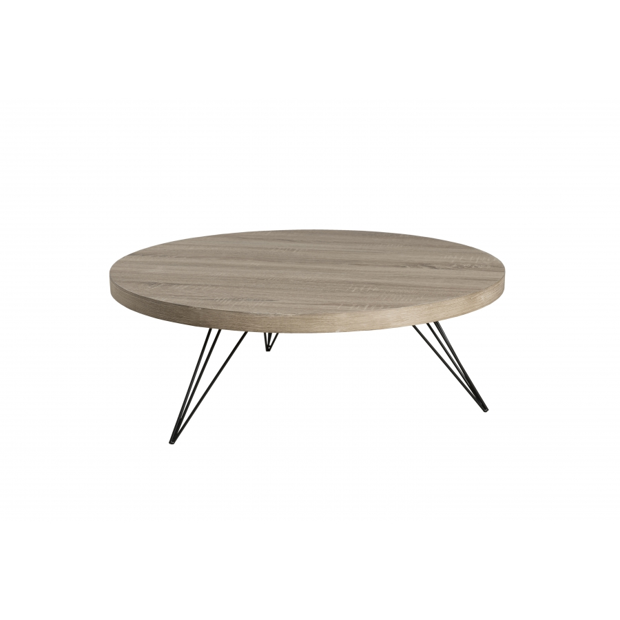 Table basse ronde 90 x 90 cm pieds scandi meubles for Pieds de table 90 cm