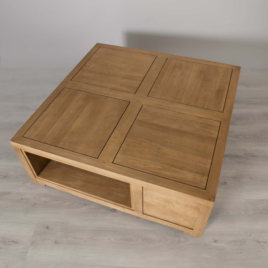 Table basse carree avec rangement for Table basse carree