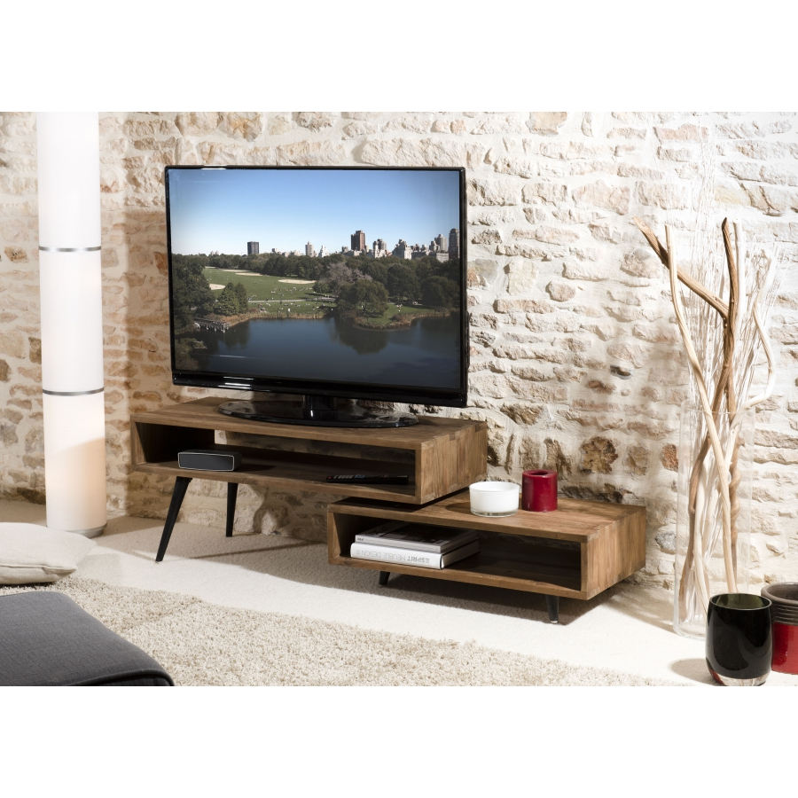 meubles tv originaux meuble tv pivotant en blanc de chez. Black Bedroom Furniture Sets. Home Design Ideas