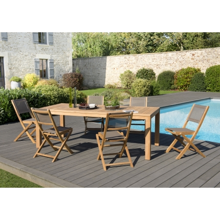 Best table de jardin couleur beige pictures awesome for Chaise de jardin castorama