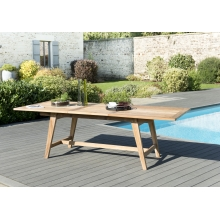 Table rectangulaire scandi extensible 180/240x100cm