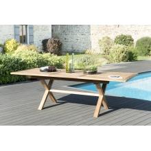 Table rectangulaire pieds croisés extensible 180/240x100cm