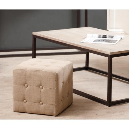 lot de poufs carr tissu couleur ficelle meubles macabane meubles et objets de d coration. Black Bedroom Furniture Sets. Home Design Ideas