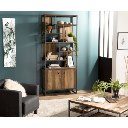 http://www.meubles-macabane.com/4598-thickbox_default/bibliotheque-haute-2-portes-et-10-open-space-teck-recycle-acacia-mahogany-et-metal.jpg