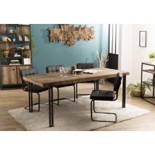 Table à manger 200x90cm Teck recyclé Acacia Mahogany pieds métal
