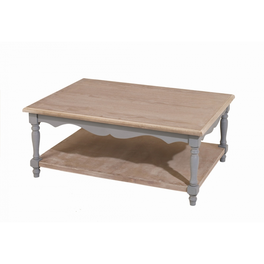 Table basse 1 tablette paulownia meubles macabane - Table basse avec tablette ...