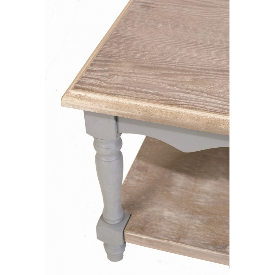 Table basse 1 tablette paulownia meubles macabane for Table basse tablette