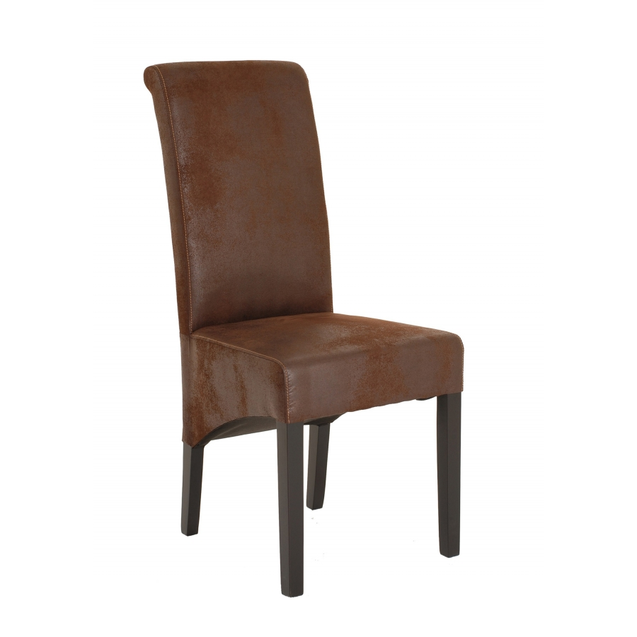 Chaise marron microfibre meubles macabane meubles et for Chaise marron