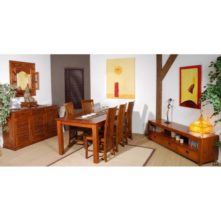 meuble tv 3 tiroirs gm teck meubles macabane meubles et objets de d coration. Black Bedroom Furniture Sets. Home Design Ideas