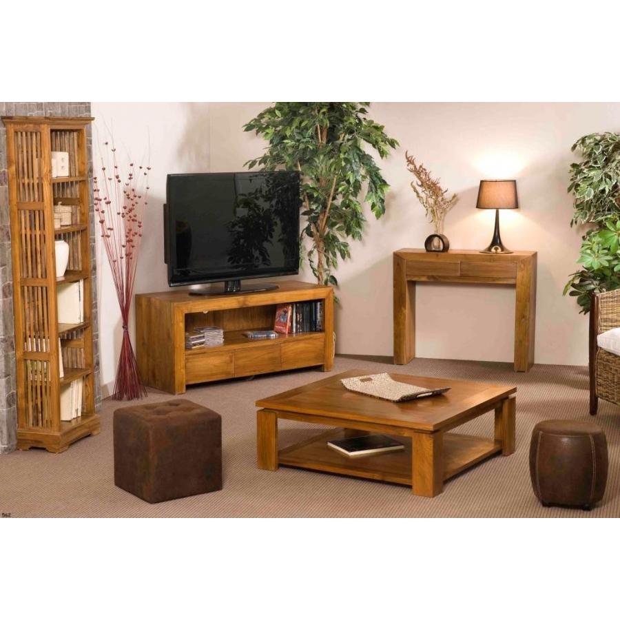 meuble tv 3 tiroirs teck meubles macabane meubles et objets de d coration. Black Bedroom Furniture Sets. Home Design Ideas