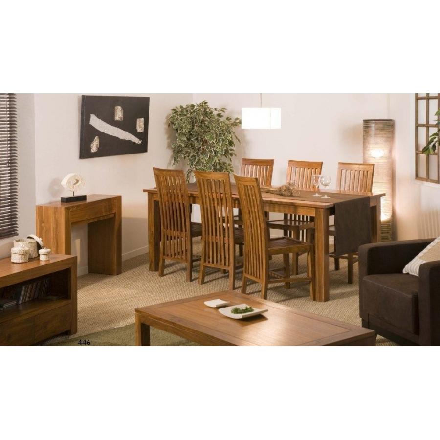 console moderne 2 tiroirs teck meubles macabane meubles et objets de d coration. Black Bedroom Furniture Sets. Home Design Ideas