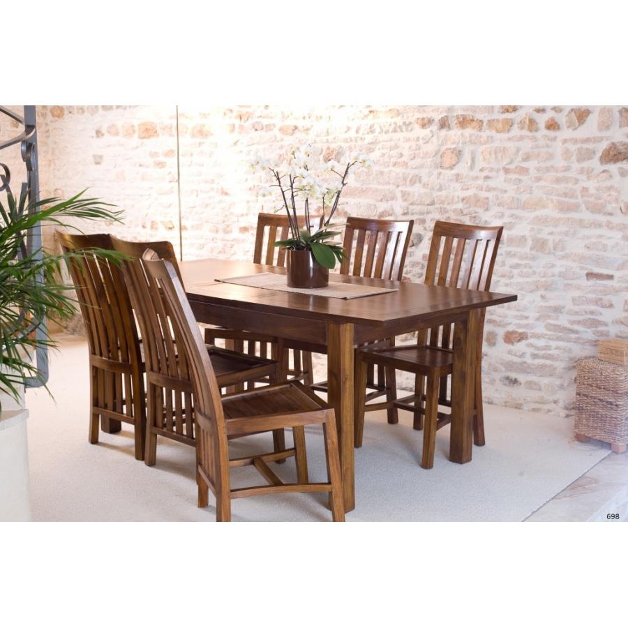table manger mindi rallonge 160 200 cm meubles. Black Bedroom Furniture Sets. Home Design Ideas