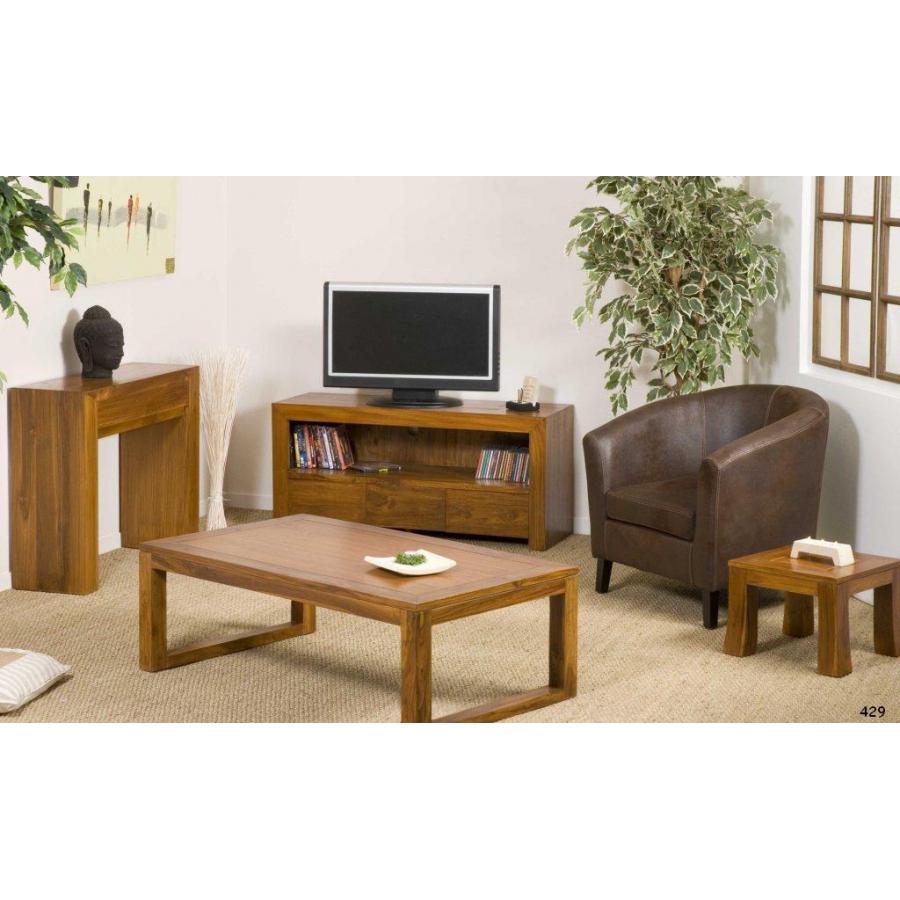 bout de canap yoko 40 cm teck meubles macabane meubles et objets de d coration. Black Bedroom Furniture Sets. Home Design Ideas