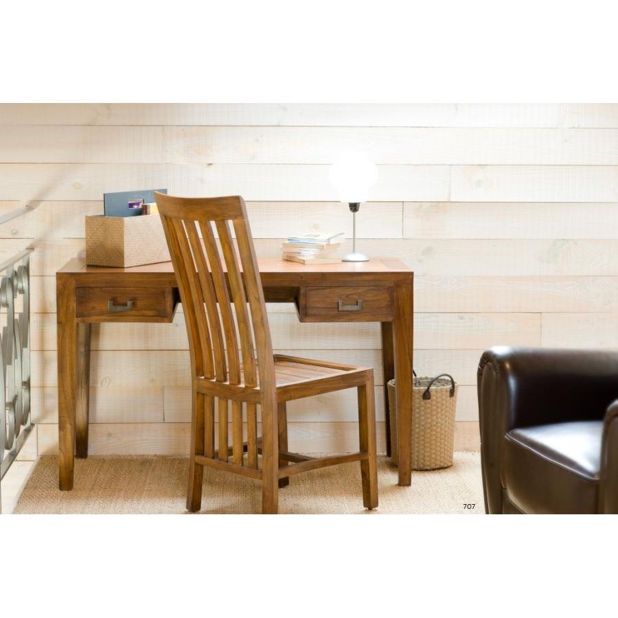 Bureau 2 tiroirs meubles macabane meubles et objets de d coration - Bureau en bois exotique ...