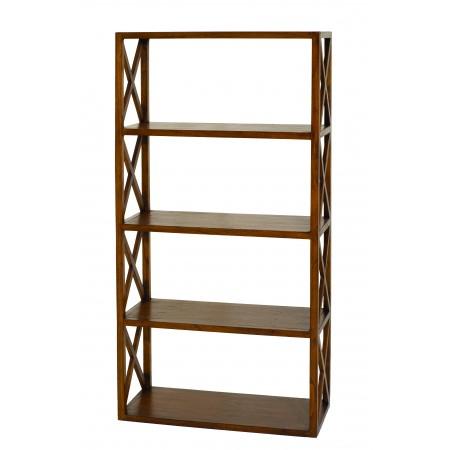 Etagère bois croisillons 4 niveaux