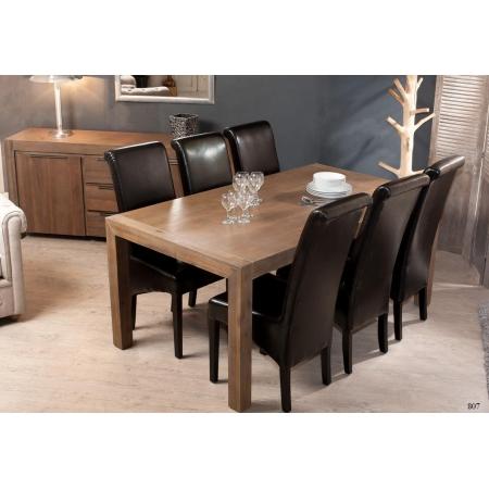 Table à manger extensible 180/230 x 100 cm acacia
