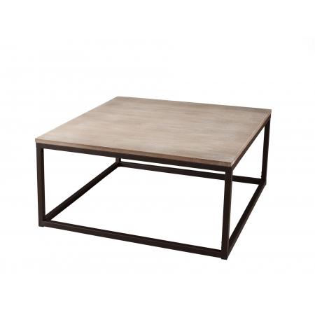 la meilleure attitude 23359 63f3a Table basse carrée bois et métal 90 x 90 cm