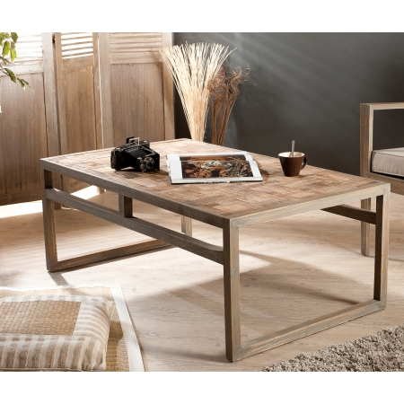 Table basse rectangulaire mozaic