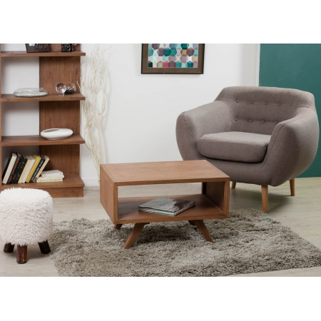 Table basse rectangulaire double plateau