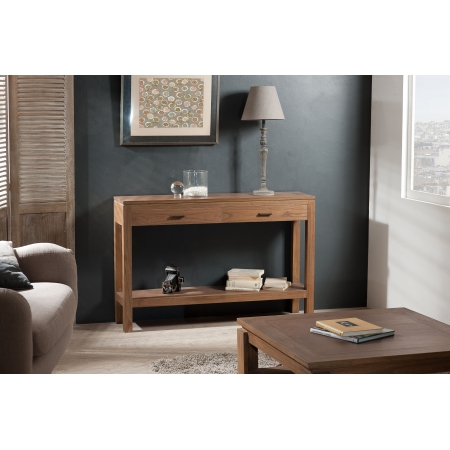Console moderne rectangulaire 2 tiroirs
