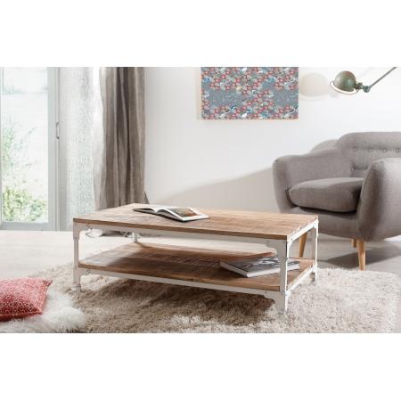Table basse industrielle double plateau 110 x...
