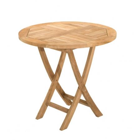 Table ronde pliante 80 x 80 cm en teck grade A