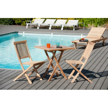 Table de jardin carrée pliante 70 x 70 cms en...