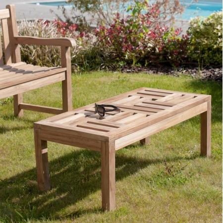 Table basse 100 x 50 cm en bois teck grade A