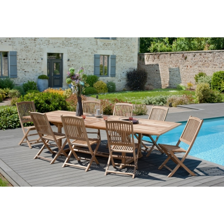 Table de jardin 10/12 pers - rectangulaire...