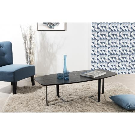 Table basse rectangulaire pieds métal