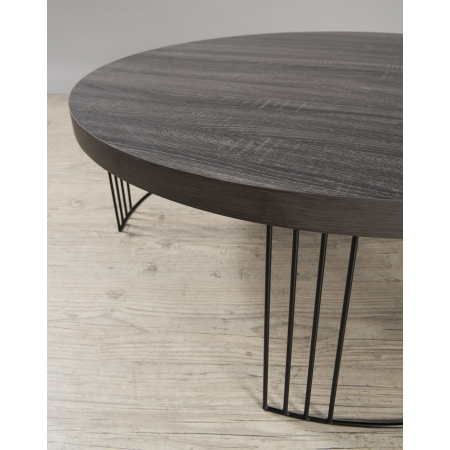 Pieds Metal Pour Table Basse.Table Basse Ronde 95 X 95 Cm Pieds Metal
