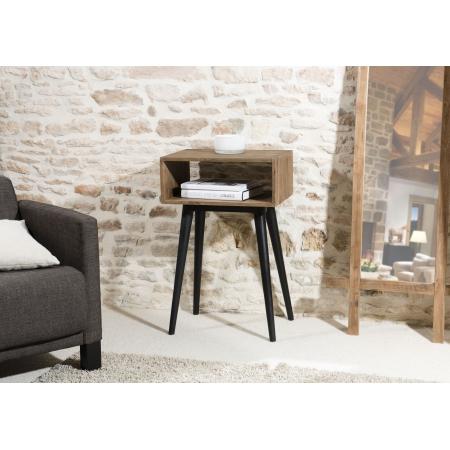 Bout de canapé bois scandi