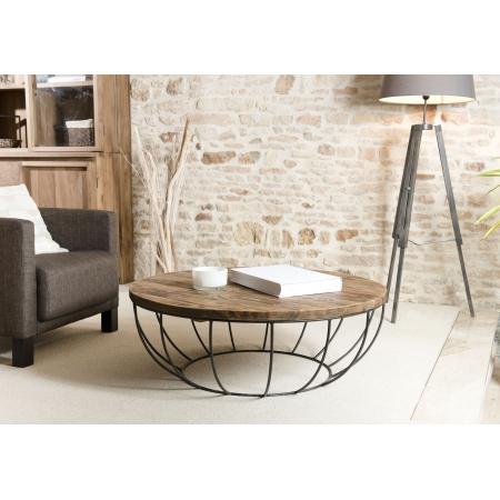 Table basse coque noire 100 x 100 cm