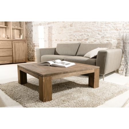Table basse bois 100 x 100 cm basic