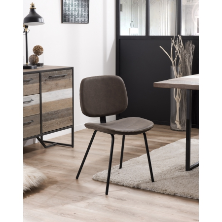 Lot de 2 chaises Jimmy marron