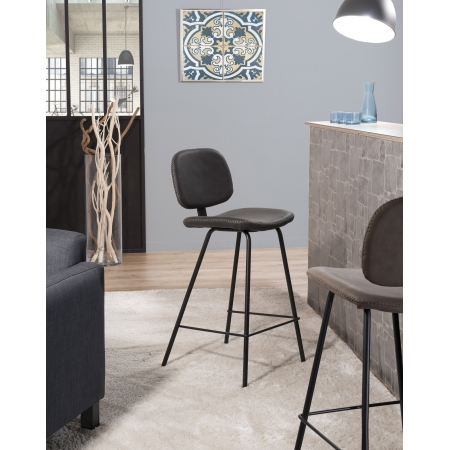 Lot de 2 chaises de bar Jimmy noir