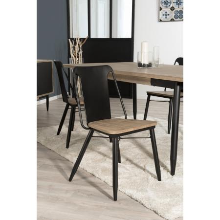 Lot de 2 chaises bois et métal