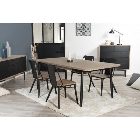 Table à manger 200 x 100 cm pieds en métal