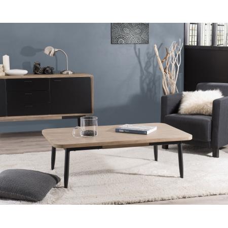 Table basse 120 x 70 cm bois et métal