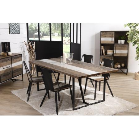 Table à manger bois 200 x 100 cm