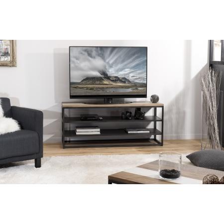 Meuble tv bois avec 2 étagères