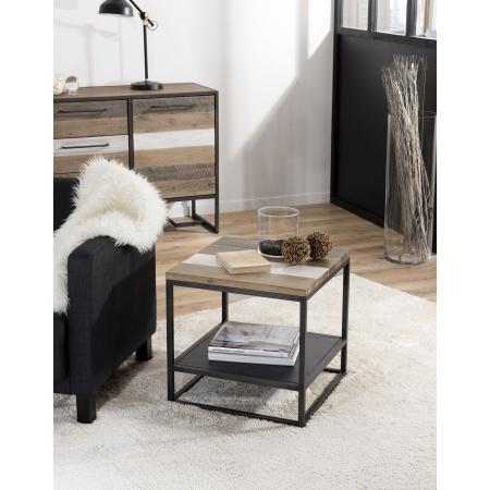 Bout de canapé carré avec tablette